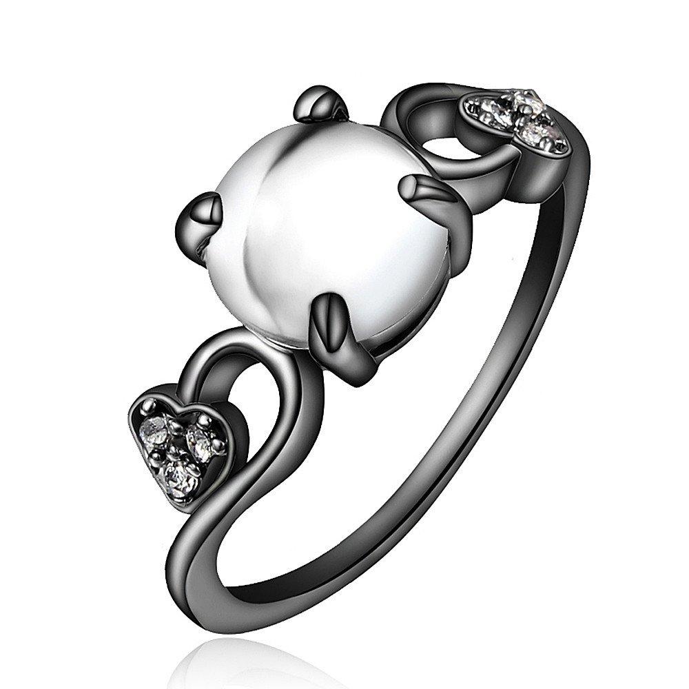 Genuine Elegant Princess Tiara Charms Ring Love Heart-Shaped Silicon Ring 17maimeng