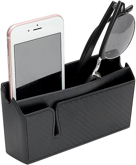 Multifuncional Soporte para teléfono para coche Negro Caja de almacenamiento para teléfono móvil Soporte para caja de bolsillo Organizador Accesorio para coche: Amazon.es: Hogar