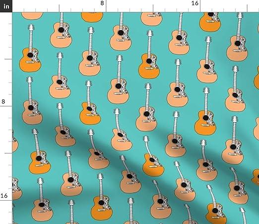 Música – música de la guitarra acústica de Retro diseño de la tela ...