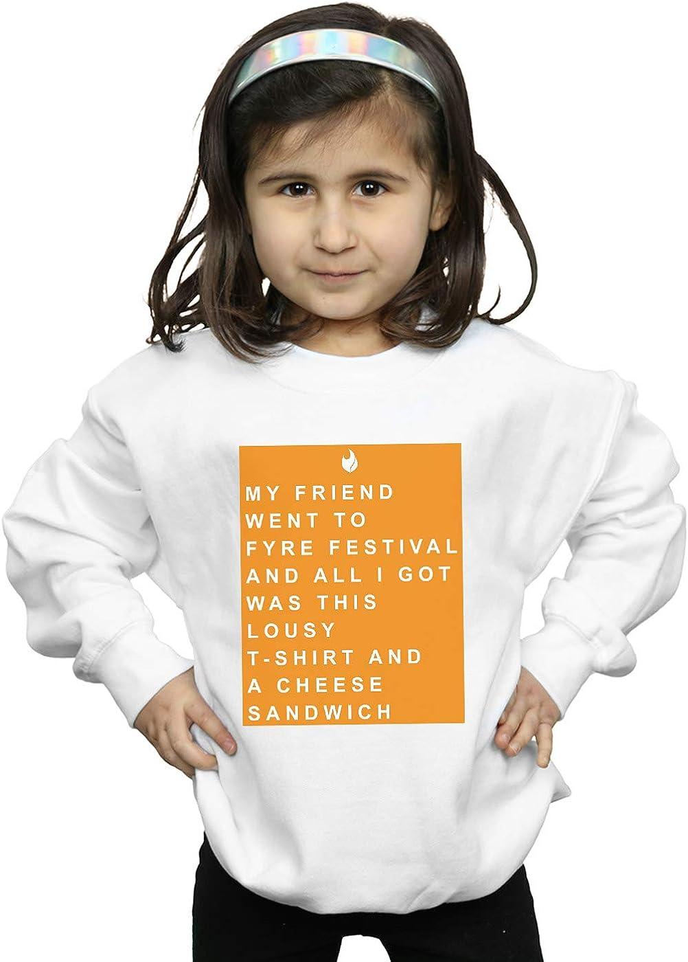 Absolute Cult Drewbacca Girls Fyre Festival Souvenir from Friend Orange Sweatshirt