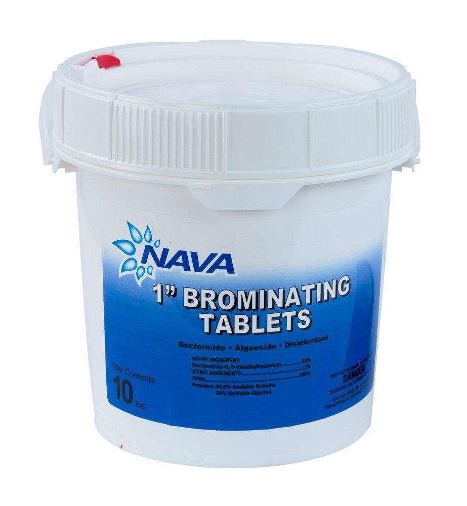 Omni/Nava Swimming Pool and Spa Bromine Tablets (10 Lbs) by Omni/Nava