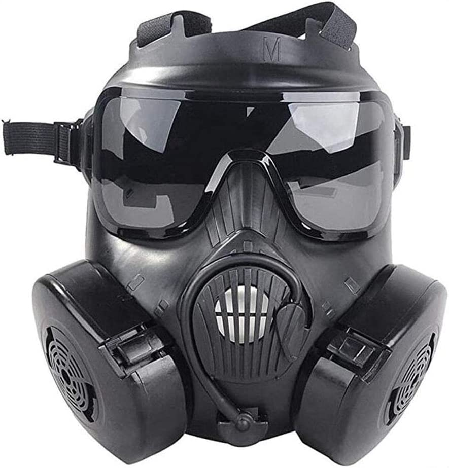 HHXT Respirador de Cara Completa M50 Cabeza mascarilla Facial Ventilative, dedicada a la protección de Seguridad Pública, Protección con Filtro Caja Reutilizable de Seguridad para los entusiastas