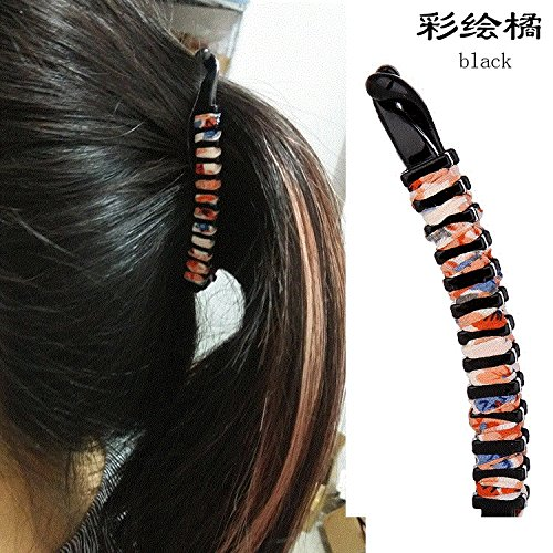 Korea trumpet vertical clip ponytail clip slip diamond hairpin banana clips hair ornaments Japan and South Korea large headdress riser for women girl lady