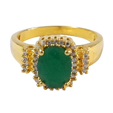 Buy R S Jewels Gold Plated Cz Emerald Stone New Fashion Finger