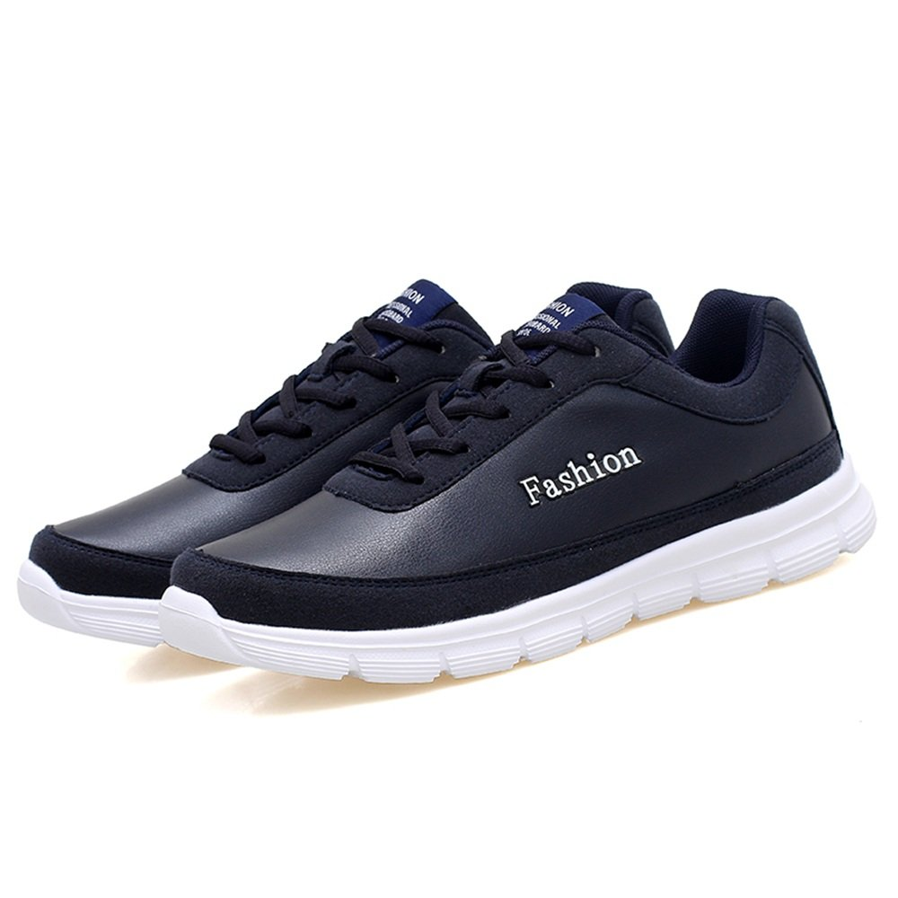 Menshoes Mens Athletic Sneakers Casual Solid Color Waterproof Soft Bottom Plus-Size Walking and Running Shoes Comfortable