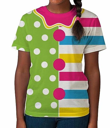 0b7970b960 Amazon.com: Kids Graphic Tee Youth T Shirt Clown Costume #2 Clothes ...