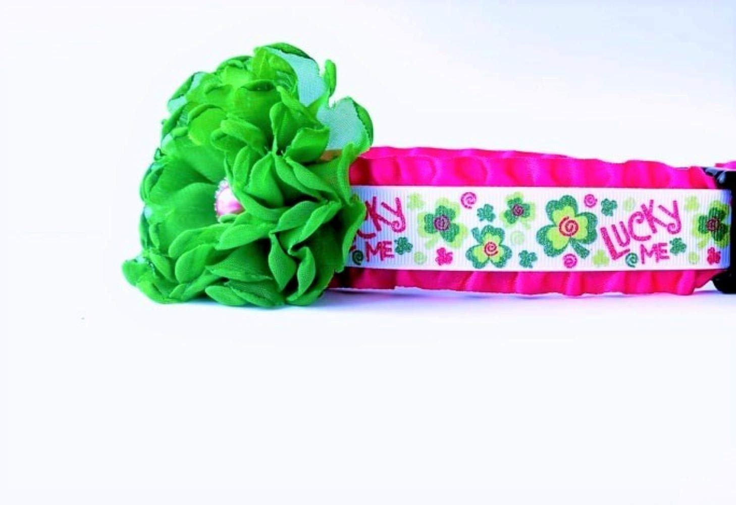 St Patricks Day Lucky Me Dog Collar Small 13 to 16 by 1 wide