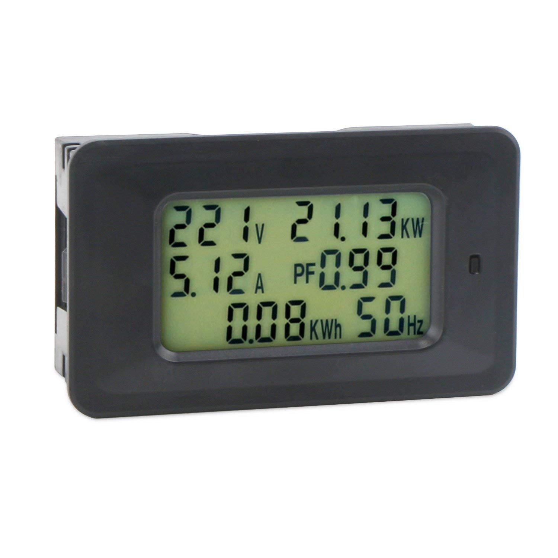 Droking 20A Multifunktionale Elektrische Tester 50~300 V LCD Digital Voltmeter Amperemeter 45~65Hz Frequenz Leistungsfaktor Meter Spannung Strom Power Energy Detector Eingebaute Shunt