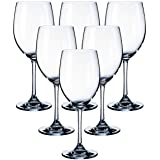 Kingrol 11.5 Ounce Wine Glasses Set of 6, Classic Stemware Set for Daily, Formal, Outdoor Use