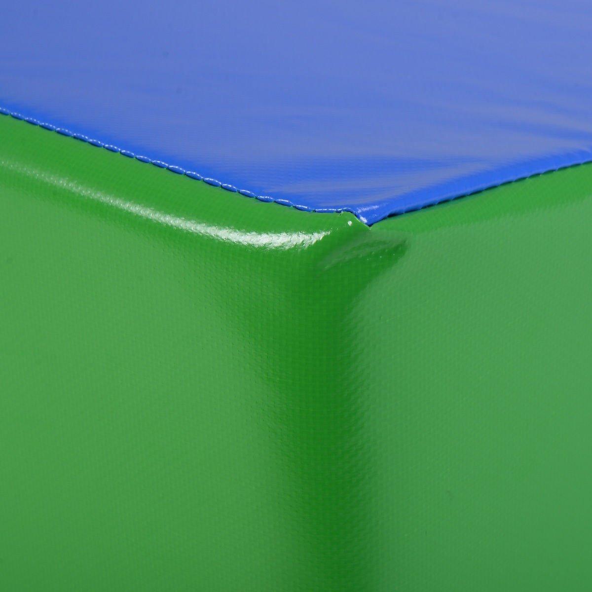 Incline Gymnastics Mat Wedge Folding Gymnastics Gym Fitness Tumbling 48''x24''x14'' by BUY JOY (Image #7)
