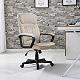 Beige Microfiber Office Chair With Ebook