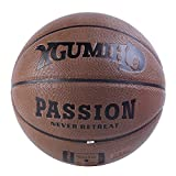 XGUMIHO Basketballs PU Leather Outdoor Indoor Games Mens Professional Street Official Size 7/29.5'