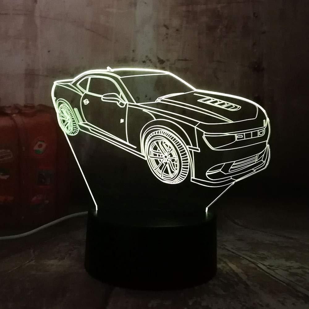 KangYD Luz 3D/Modern 3D Car Led Night Light 7 colores Change ...
