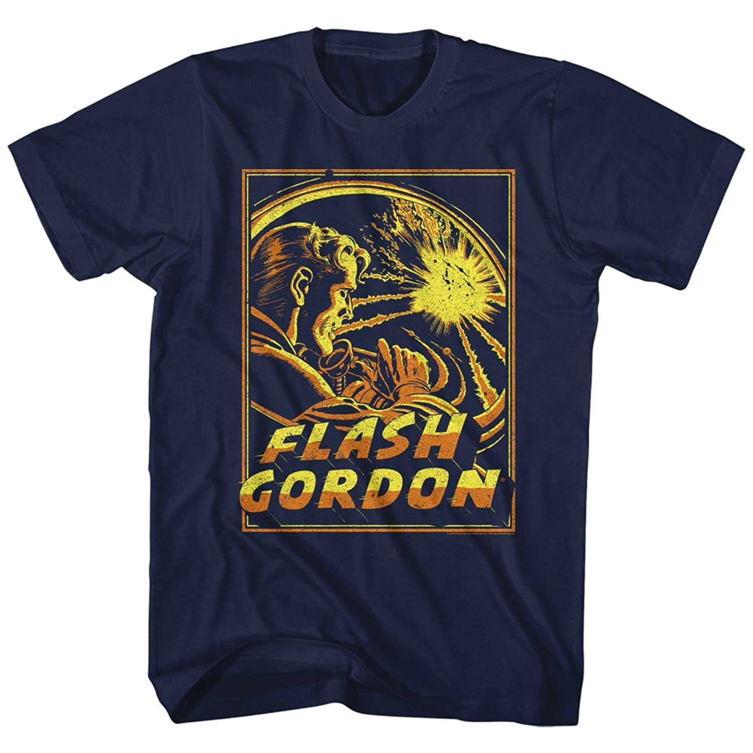Flash Gordon 1930's Comic Strip?Space Explosion Adult T-Shirt Tee