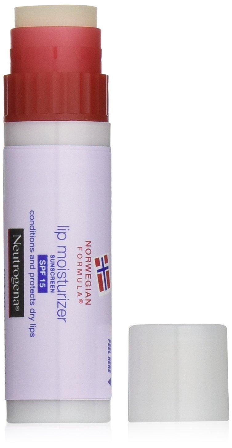 Neutrogena Norwegian Formula Lip Moisturizer, SPF 15, 0.15 Ounce (Pack of 6)