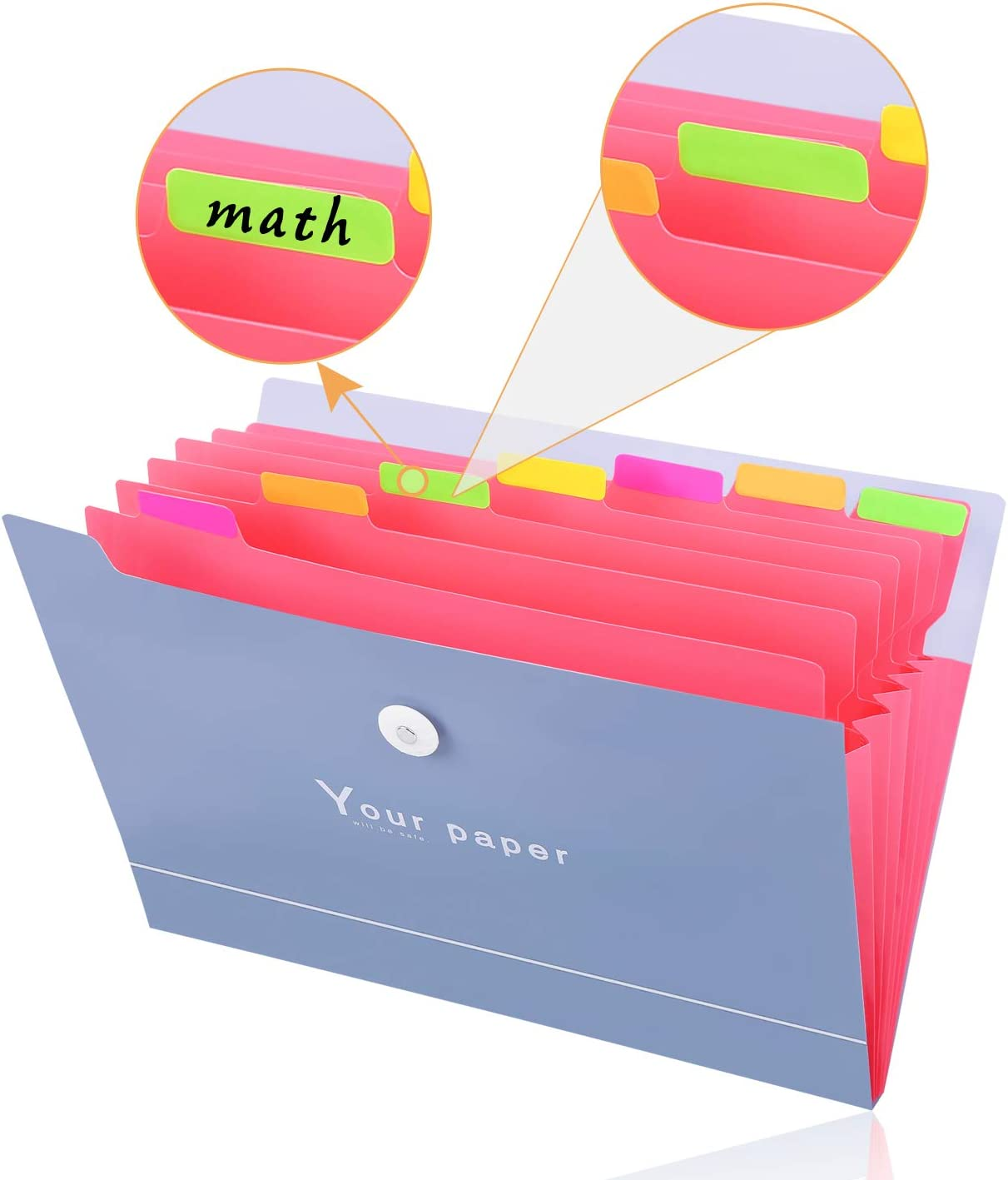 Trieur 8 Compartiments A4 Trieur Document Classeur Rangement Papier Trieur Plastique Extensible Accordeon Document Pour Bureau Maison Ecole Pochettes Et Trieurs A Soufflets