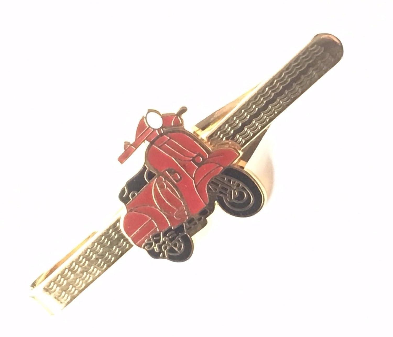 Grabado Personalizado Rojo Vespa Scooter Esmaltado Con escudo ...