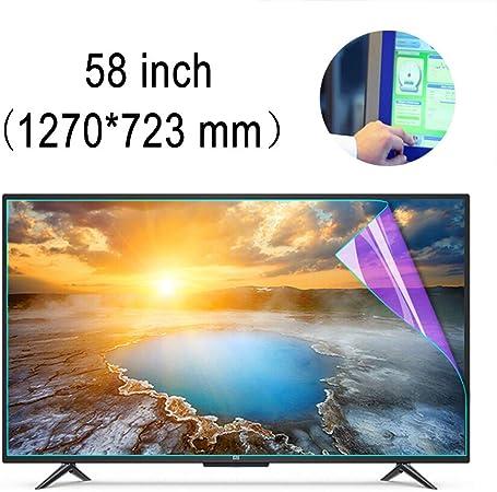 ZSLD Película Protectora Antirreflejos (Mate) De TV De 58 Pulgadas con Luz Azul Antirreflectante, Bloquee Los Rayos Azules Dañinos Y Proteja Sus Ojos, para LCD LED 4K HDTV: Amazon.es: Hogar