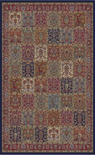 - Concord Global Jewel Panel Red 5'3X7'7 - Area Rug by Concord Global