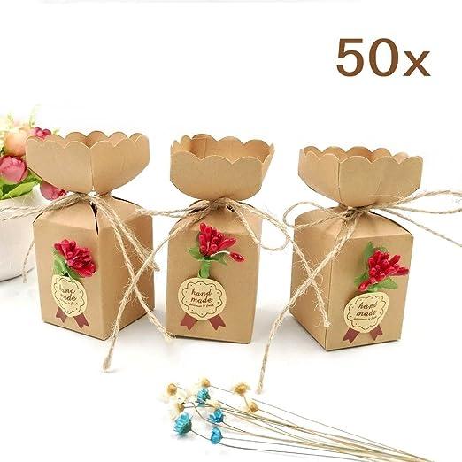 69 opinioni per JZK 50 Forma vaso marrone scatola portaconfetti shabby scatolina bomboniera