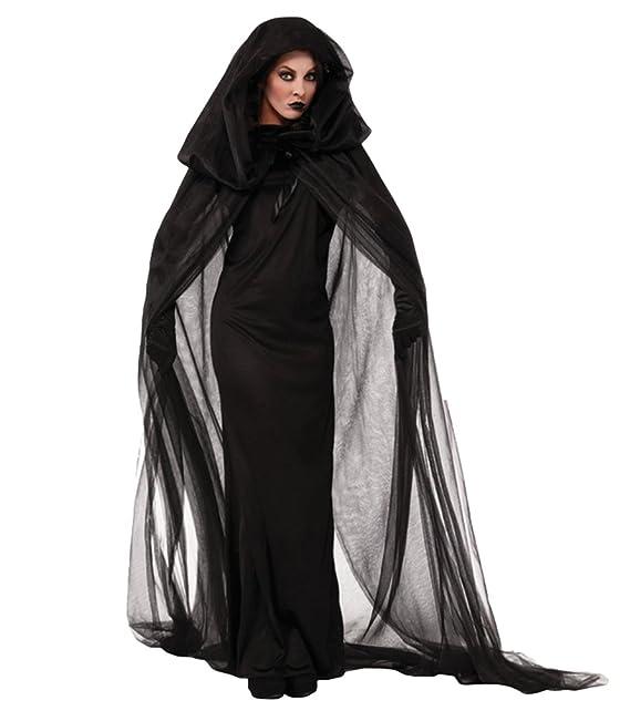 57d9bd900943 Anguang Donna Delle Donne del Costume di Halloween di Velluto con Mantello  del Capo Masquerade Cosplay Accessori  Amazon.it  Abbigliamento