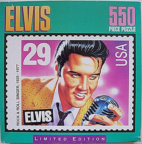 Milton Bradley Elvis Presley USA Commemorative Postage Stamp 550 Pc Jigsaw Puzzle