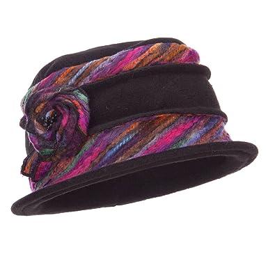 5fbe9193f86 Jeanne Simmons Women s Polar Fleece Winter Bucket Hat - Black OSFM ...