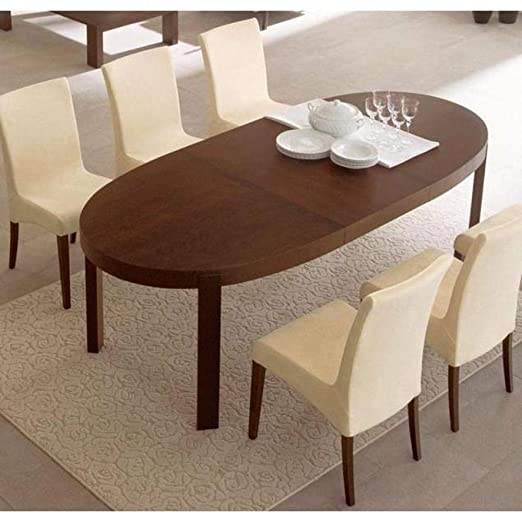 Inside Mesa Comedor Extensible Oval Taller 170 x 100 Color wengué ...