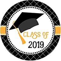 Graduation Cap Class of 2019 Sticker Labels - College University Education Degree Party - Set of 30
