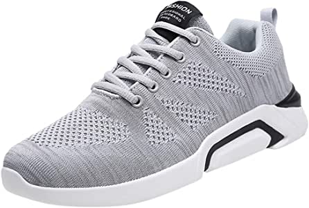 ღLILICATღ Zapatillas para Correr para Hombres y Mujer,Zapatos Hombre Deportivos Transpirables Casual Yoga Gimnasio Correr Sneakers Athletic Cordones Air Cushion Running Sports Sneakers: Amazon.es: Deportes y aire libre