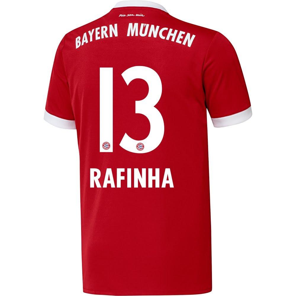 Player Print – AdidasパフォーマンスBayern Munich Home Rafinha Jersey 2017 / 2018 (公式印刷) B073WD9M2DL