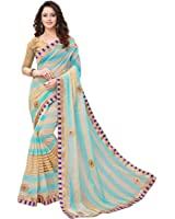 V.Clothy Women's Cotton Silk Saree With Blouse Piece (V_Sb_ Sarees For Women's Party Wear_Sky Blue)