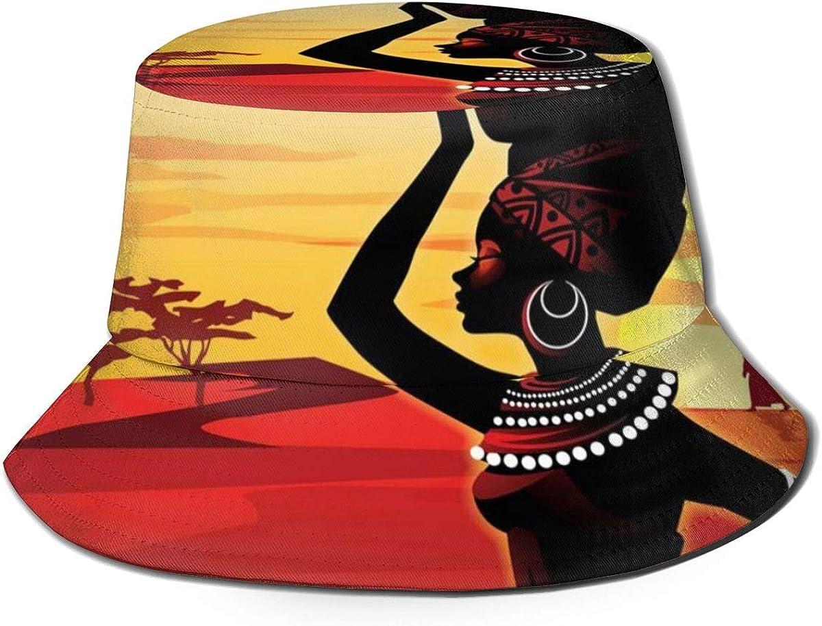 African Woman Bucket Hat...