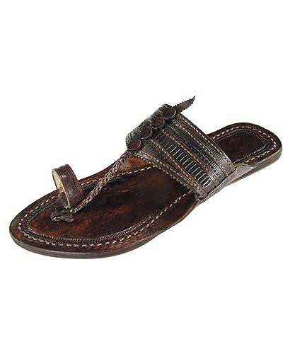 EKolhapuri Triangular Belt, Belt, Belt, Dark Braun Authentic Handmade Genuine ... a17a67