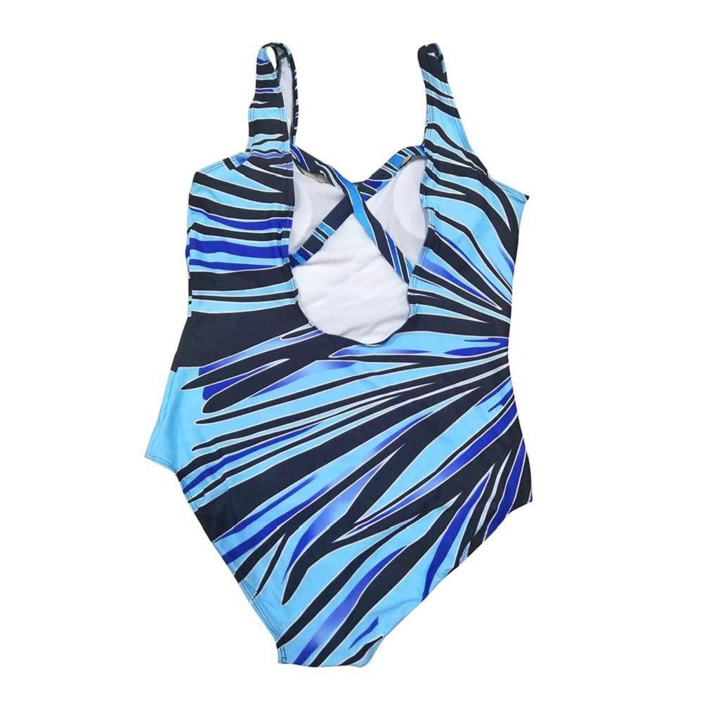Photno Women's One Piece Swimsuit Plus Size Swimwear Tummy Control Bathing Suit Beach Monokini Bodysuit