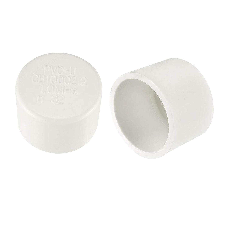 PRINDIY Tap/ón de tuber/ía de PVC Blanco Montaje de tuber/ía de desag/üe /áspera Tapas de Extremo Externo