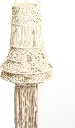 Koyal Wholesale Macrame Chandelier Bohemian Wedding Decoration, Boho Room Decor, Macrame Light Lamp Shade 58-Inch