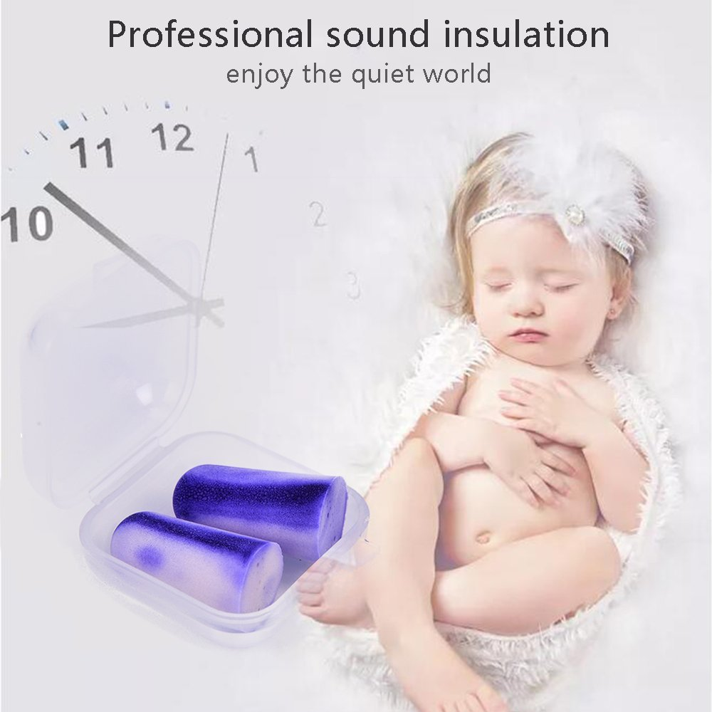 Tapones de espuma suave para los oídos de baja presión, antiruido, suave y silencioso, sin cables, reducción de ruido, perfecto para estudio, dormir, ...