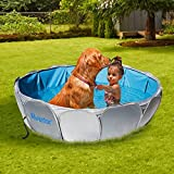 """Alvantor Pet Foldable Swimming Pool Cat Puppy Shower Spa Dog Bathing Tub Kiddie Pools Portable Indoor Outdoor Pond Ball Pit 42""""x12 Patent Pending"""