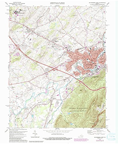 Waynesboro West VA topo map, 1:24000 scale, 7.5 X 7.5 Minute, Historical, 1973, updated 1987, 27 x 22 IN - - West Virginia Westover