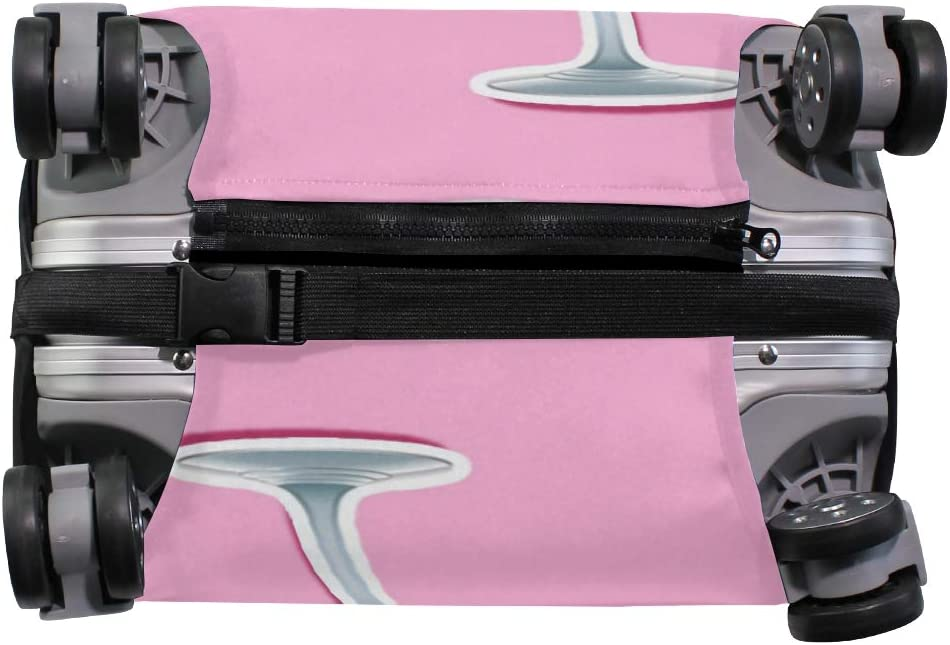 GIOVANIOR Pink Flamingoes Cocktail Luggage Cover Suitcase Protector Carry On Covers