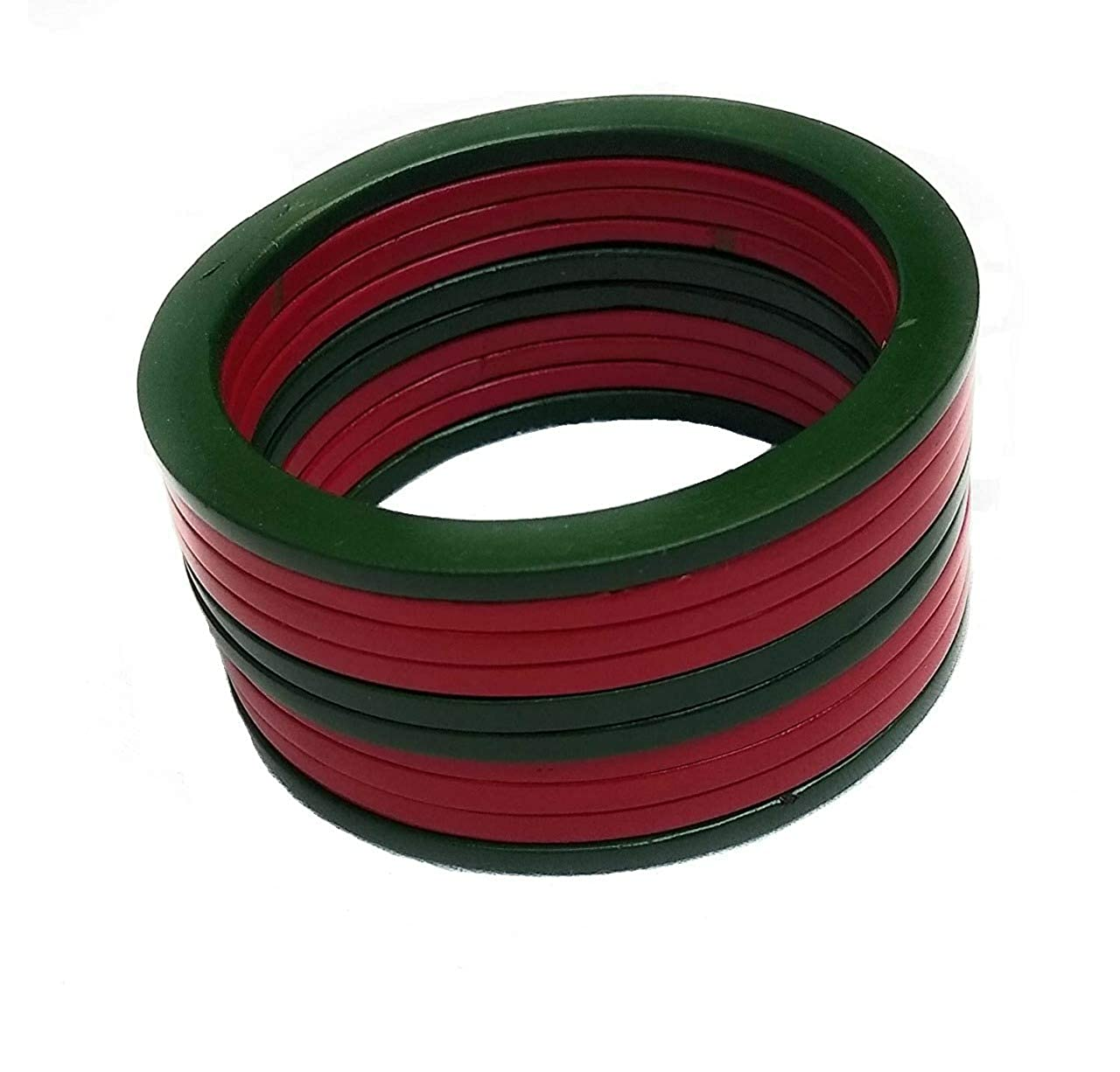 Buy Amazon Shopping Green Red Patti Plain Lac Bangle For Women 2 4 Set Of 10 Pieces At Amazon In