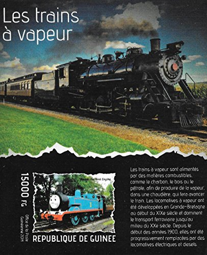 Mnh Trains (Stamps for Collectors - Steam Trains with Thomas the Tank Engine MNH Imperforate souvenir sheet / Guinea / 2014)