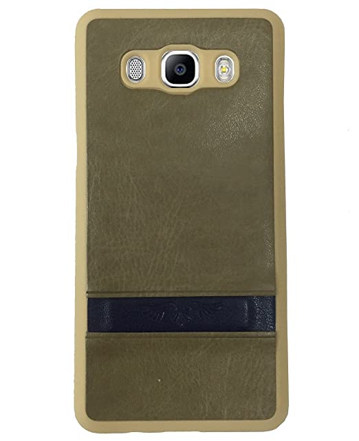 Kinse PU Leather Back Case Cover for Samsung Galaxy J5 6  2016 Edition    Brown Mobile Accessories