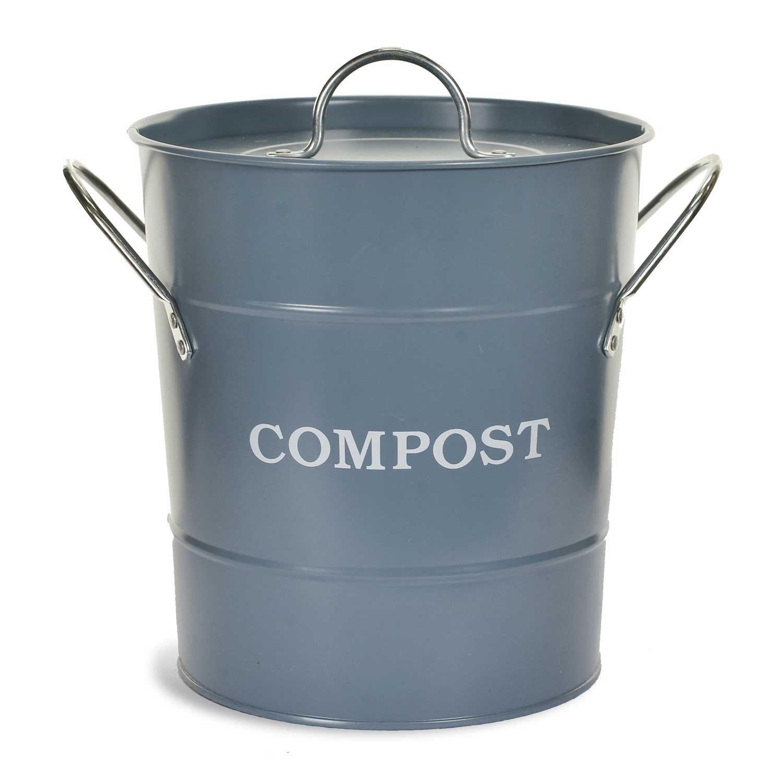 Garden Trading Compost Bucket - 3.5 Litre - Dorset Blue