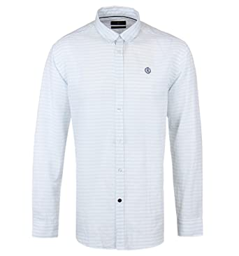 e7f58f8f0ba Henri Lloyd Marldon Mint Stripe Long Sleeve Linen Shirt  Amazon.co.uk   Clothing