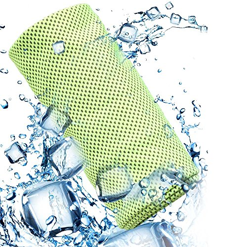 Yezala Cooling Towel | Instant Chilling Cold Towels Instant Relief Neck Wrap Scarf for Sports Outdoors(green)