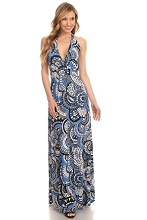 a8b803bb973 Zoozie LA Women s Maxi Dress with Belt Tie and Mock Wrap at Amazon ...