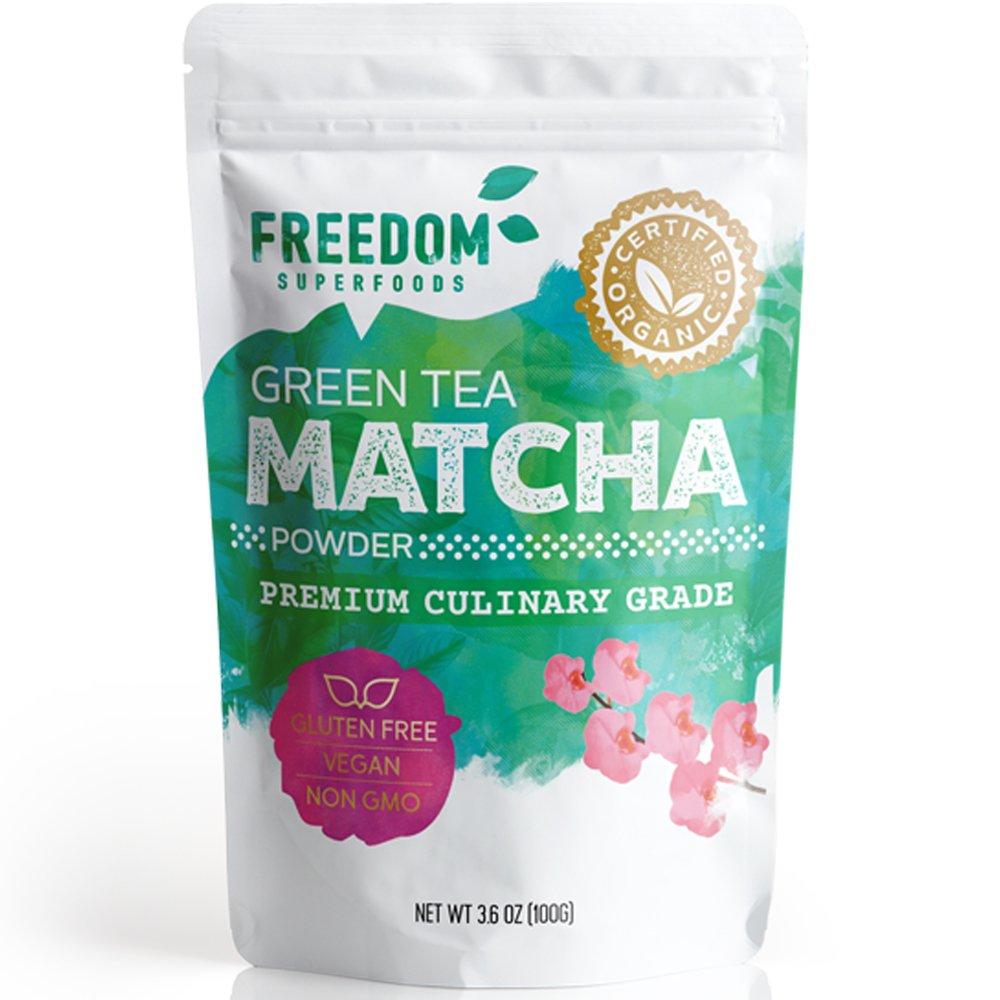 Organic Matcha Green Tea Powder - Best Premium Japanese Culinary grade - Pure Sweet Flavour 3.6oz/ 100g