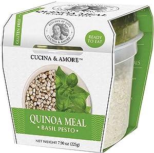 Cucina & Amore Quinoa Meal Basil Pesto, 7.9 Ounce Cup